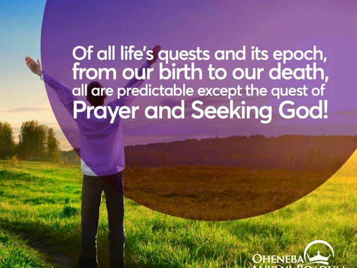 Pray and Seek God
